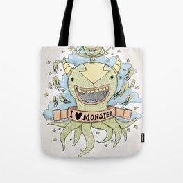 I love monster Tote Bag