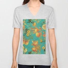 Vintage & Shabby Chic - Summer Golden Apples Garden Unisex V-Neck