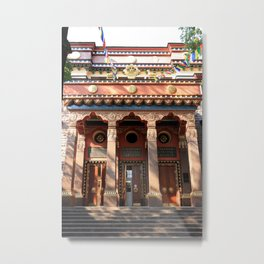 Main Entrance. Buddhist traditional sangha of Russia. Metal Print
