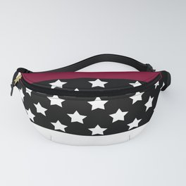 .Red black patchwork Fanny Pack