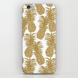 Gold Pineapples iPhone Skin