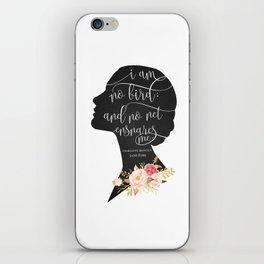 I am no Bird - Charlotte Bronte's Jane Eyre iPhone Skin