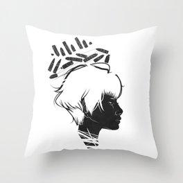 Profile Crown Throw Pillow