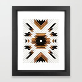 Urban Tribal Pattern No.5 - Aztec - Concrete and Wood Framed Art Print