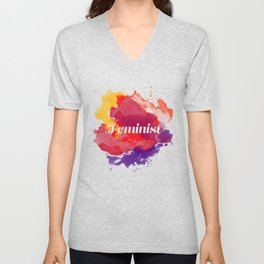 Feminism Watercolor Unisex V-Neck
