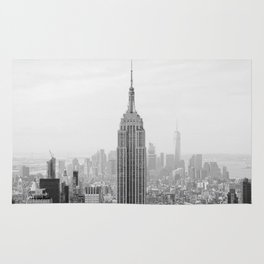 Black and White Empire State Building Manhattan New York Rug