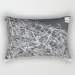 Algiers Algeria Map in Retro Style. Rectangular Pillow
