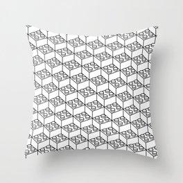 2x2 Legoblock White pattern Throw Pillow