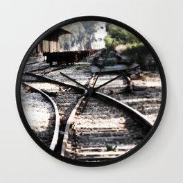 Abandoned Rail Tracks Wall Clock
