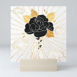 Black Rose Inktober :: Your Psyche Mini Art Print