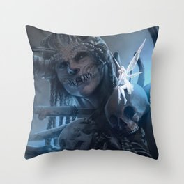 Tooth and Bone Throw Pillow