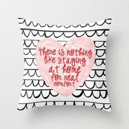 GOOD CONVERSATION // scalloped marker illustration Throw Pillow