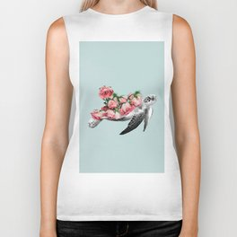 Sea turtle Art Print Biker Tank
