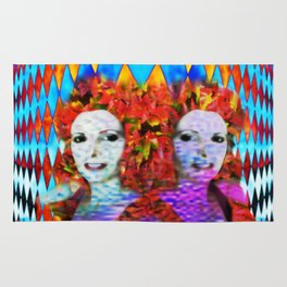 """""""Just One More Girl and a Flame Tree"""" by surrealpete Rug"""