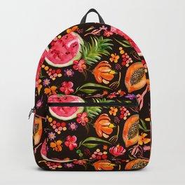 Tropical Fruit Festival in Black | Frutas Tropicales en Negro Backpack