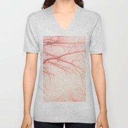 abstract rose tree Unisex V-Neck