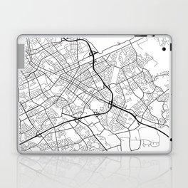 Kitchener Map, Canada - Black and White Laptop & iPad Skin