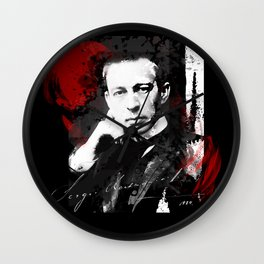 Sergei Rachmaninoff - Russian Pianist, Composer, Conductor Wall Clock
