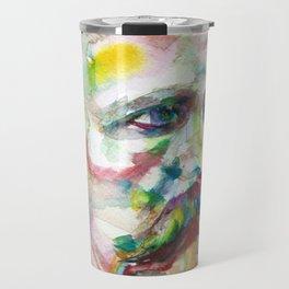 FRIEDRICH NIETZSCHE - watercolor portrait.4 Travel Mug