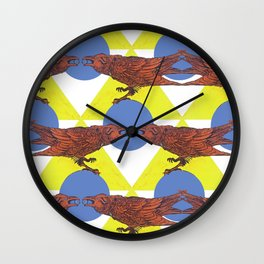 Muninn & The Wheel Wall Clock