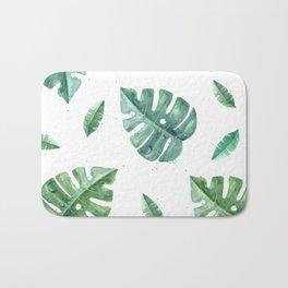 Watercolor leaf garden #society6 Bath Mat