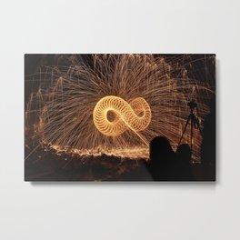 Infinite Fire Spin Metal Print