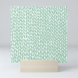 Hand Knit Zoom Mint Mini Art Print