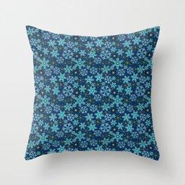 Blue snow , Christmas Throw Pillow