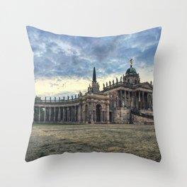 Neues Palais at dusk Throw Pillow