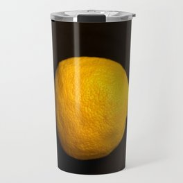 Yellow Lemon On A Black Background #decor #society6 Travel Mug