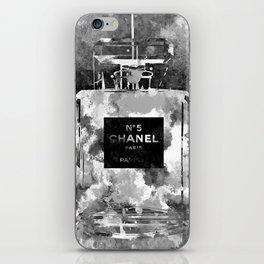 No 5 Black and White iPhone Skin