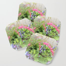 Floral Fantasy Bleeding Hearts and Bluebells Coaster