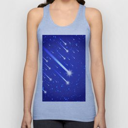 Space background with stars and comets Unisex Tank Top