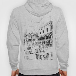 Sketch of San Marco Square in Venice Hoody