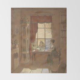 Jane Austen, Mansfield Park - the East Room Throw Blanket