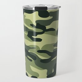Green Military Camouflage Pattern Travel Mug