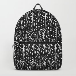 Black & White Feather Wilderness Backpack