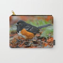 Profile of a Spotted Towhee Carry-All Pouch