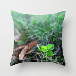 Lonely Clover Throw Pillow
