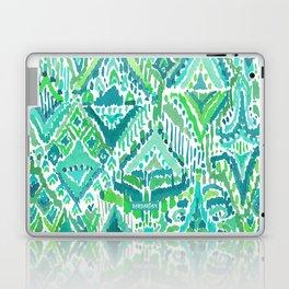 Spring TEMPLE TRIBAL Green Ikat Laptop & iPad Skin