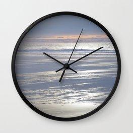 TRANQUIL BEACH WINTER SUNSET CORNWALL Wall Clock