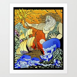 Tales of the Trident:Poseidon Art Print