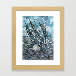 Sea Monster Framed Art Print