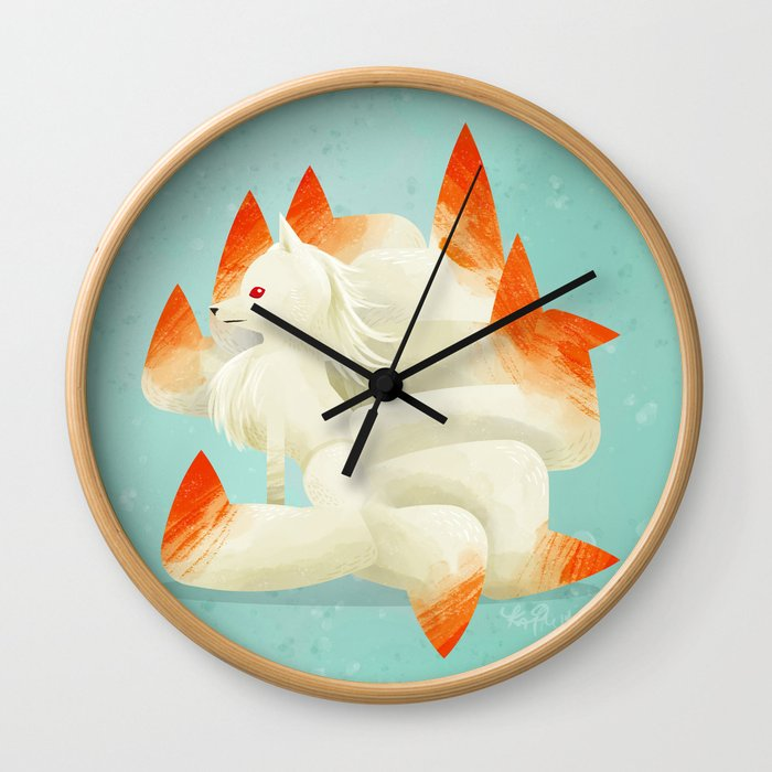 038 Ninetales Wall Clock