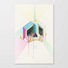 Sugarcube skull Canvas Print