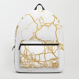 HONG KONG CHINA CITY STREET MAP ART Backpack