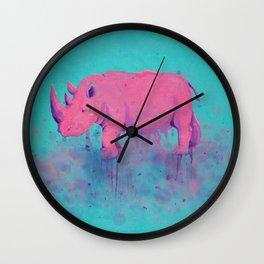 Save the Rhinos Wall Clock