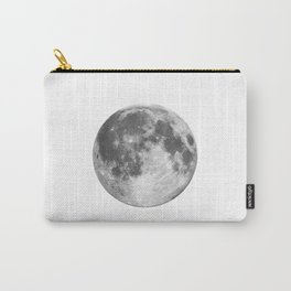 Full Moon phase print black-white monochrome new lunar eclipse poster home bedroom wall decor Carry-All Pouch
