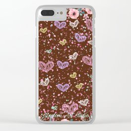 Flower Garden 3 Clear iPhone Case