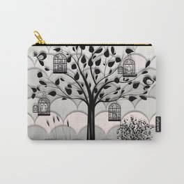Paper landscape B&W Carry-All Pouch